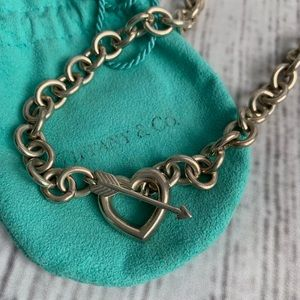 Tiffany and co heart and arrow necklace